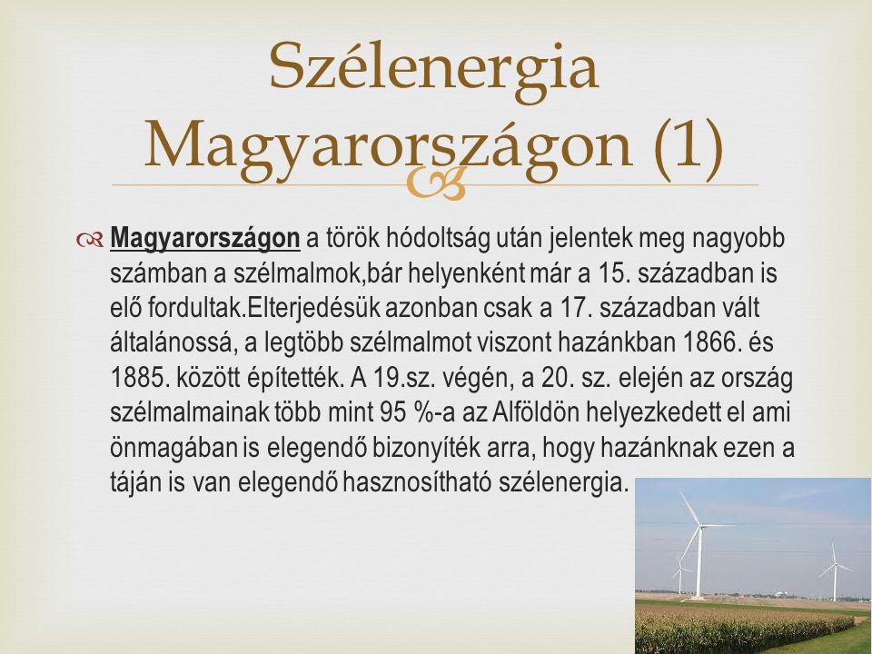 Szélenergia Magyarországon (1)