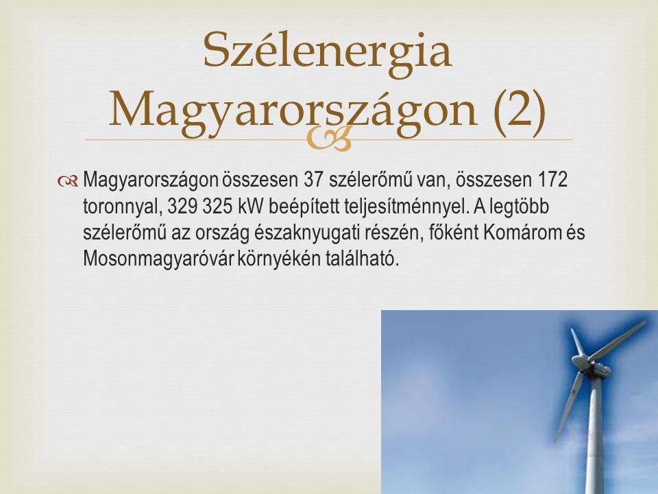 Szélenergia Magyarországon (2)