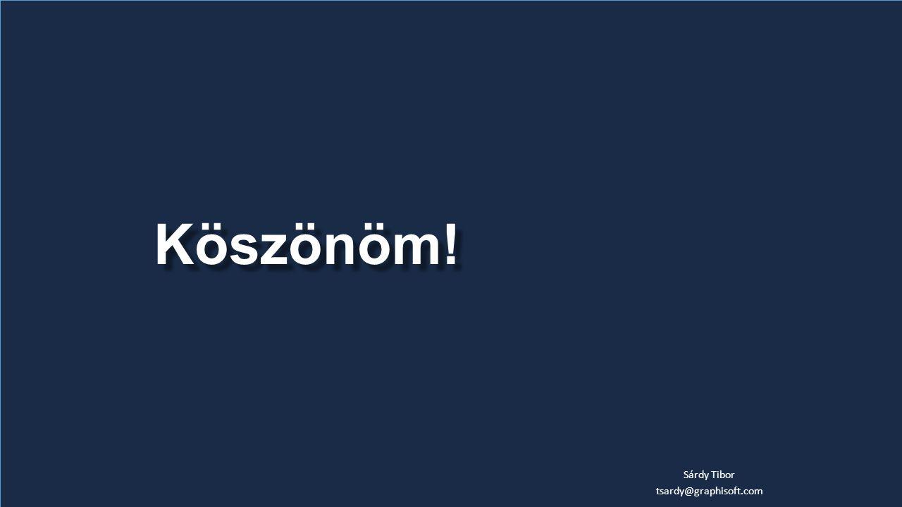 Köszönöm! Sárdy Tibor tsardy@graphisoft.com