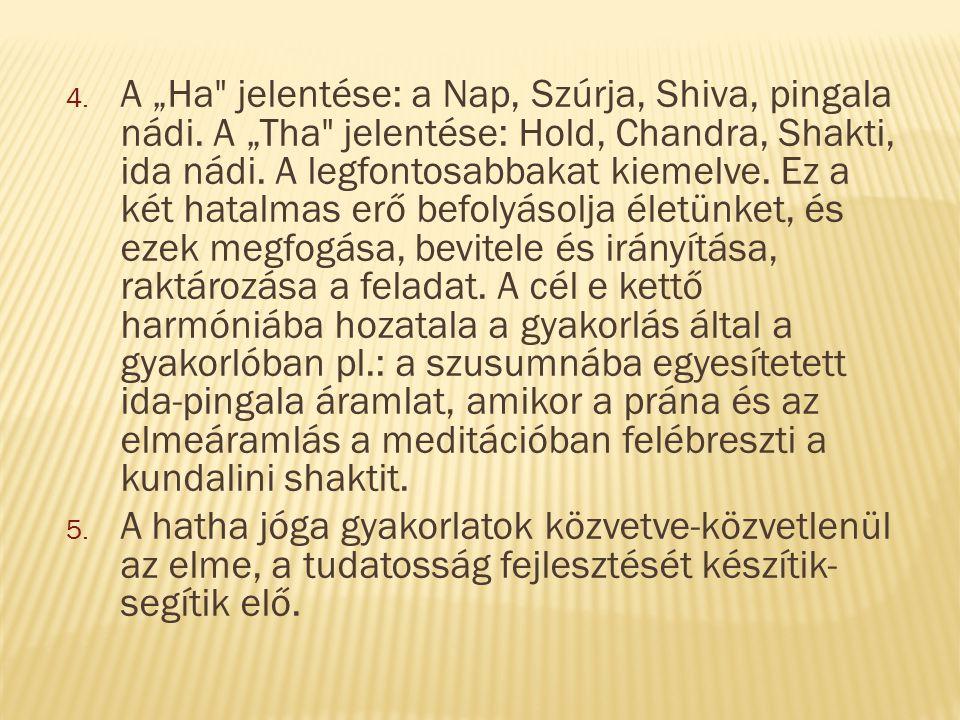 """A """"Ha jelentése: a Nap, Szúrja, Shiva, pingala nádi"""