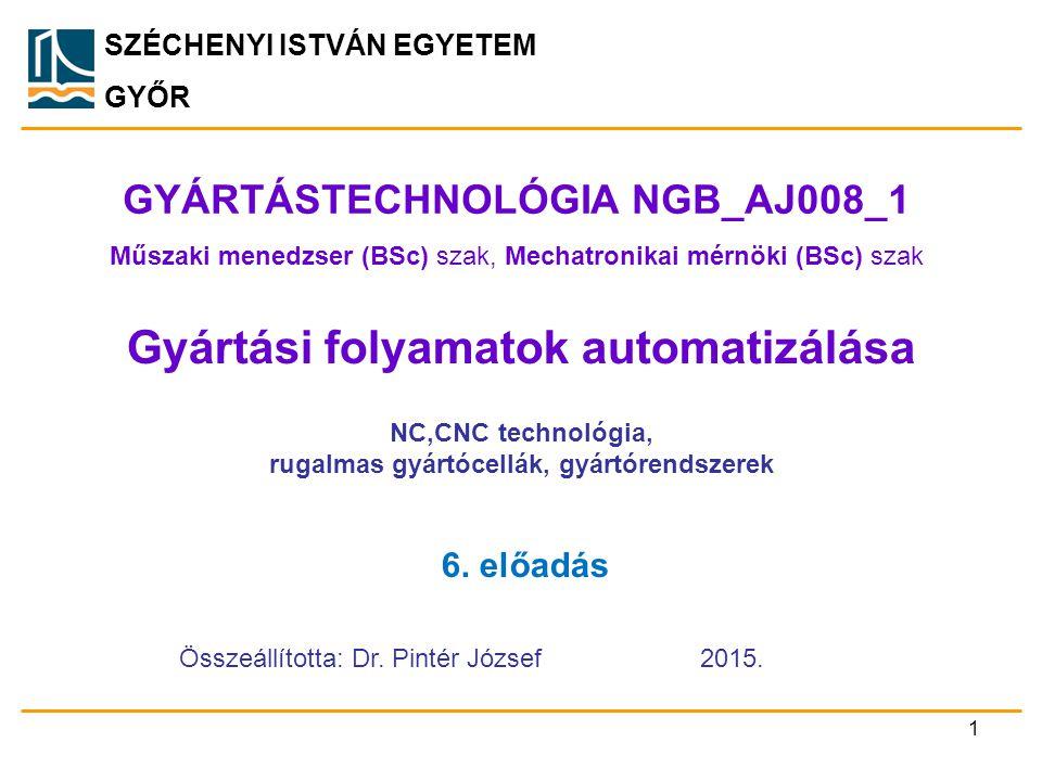 GYÁRTÁSTECHNOLÓGIA NGB_AJ008_1