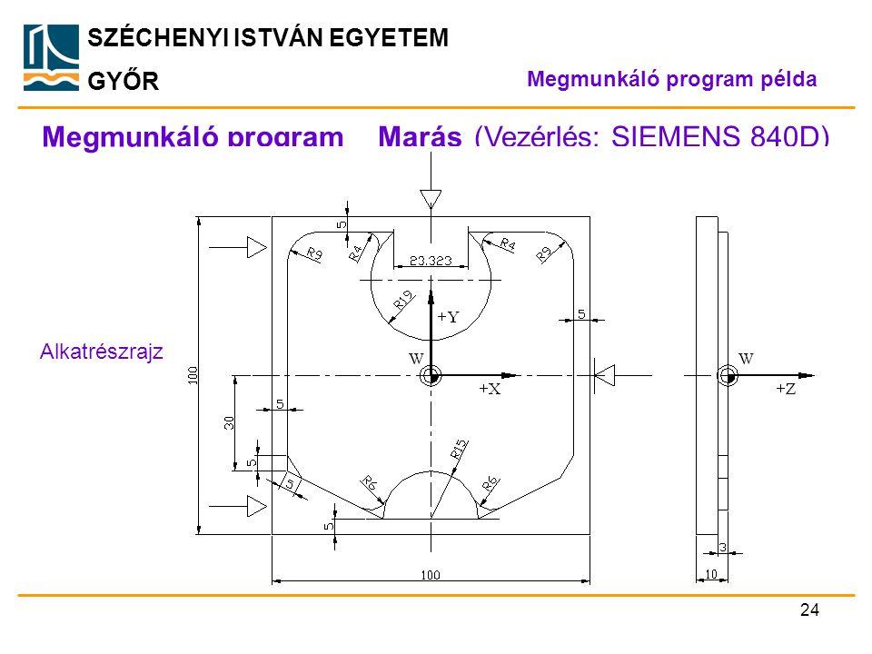 Megmunkáló program _ Marás (Vezérlés: SIEMENS 840D)
