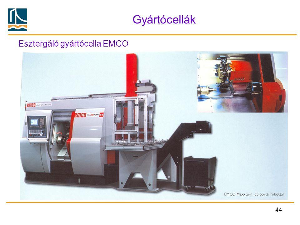 Gyártócellák Esztergáló gyártócella EMCO
