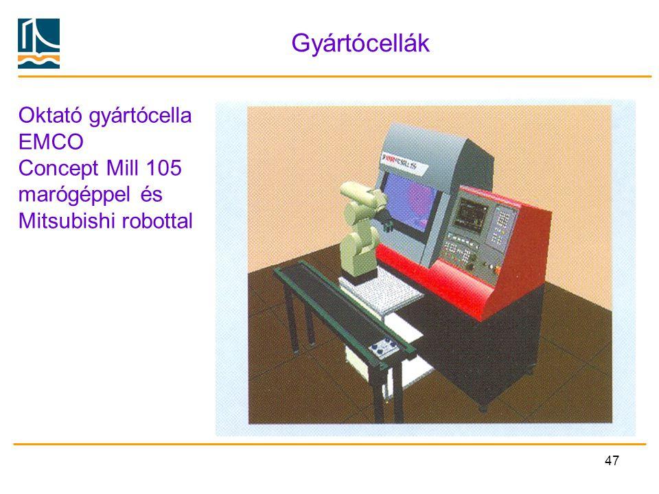 Gyártócellák Oktató gyártócella EMCO Concept Mill 105 marógéppel és