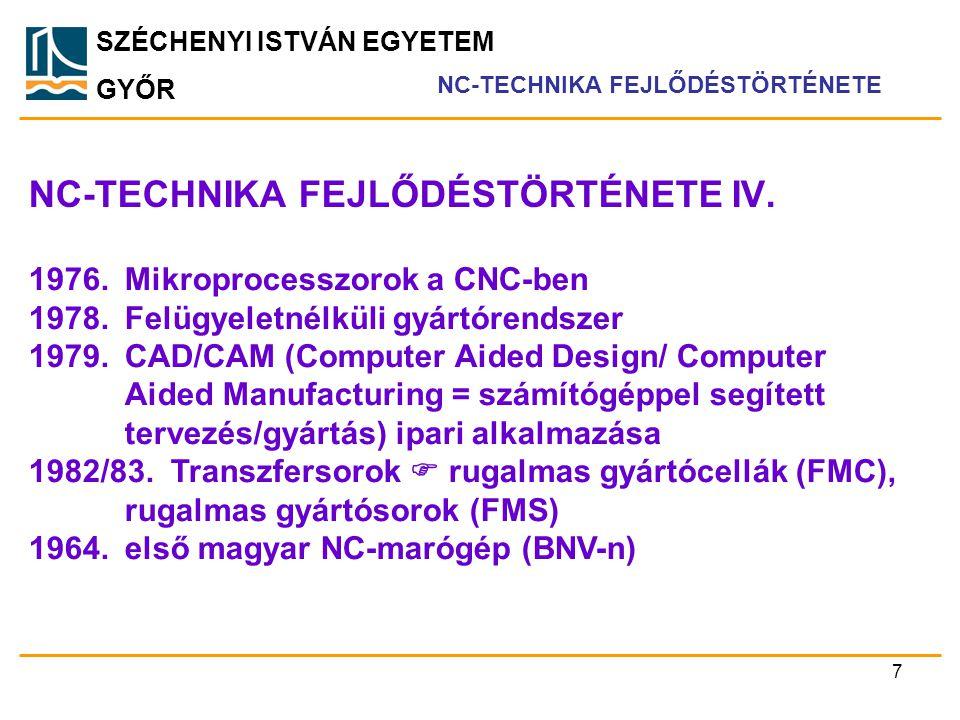 NC-TECHNIKA FEJLŐDÉSTÖRTÉNETE IV.