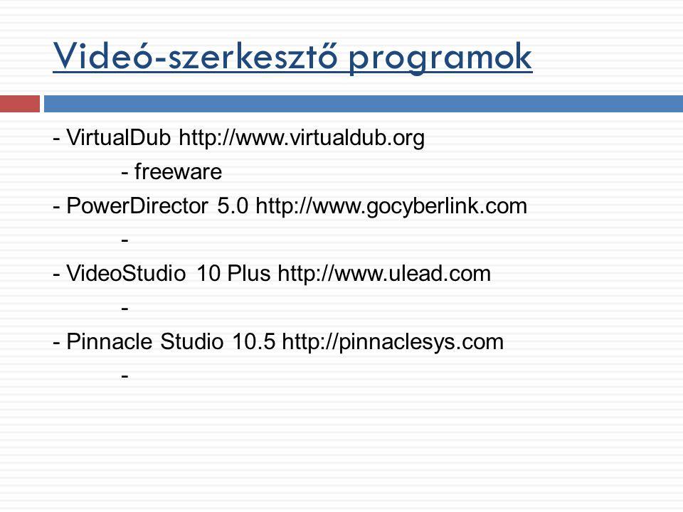 Videó-szerkesztő programok