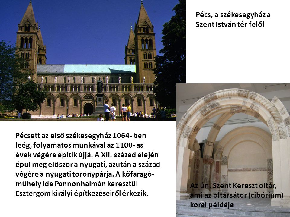 Pécs, a székesegyház a Szent István tér felől