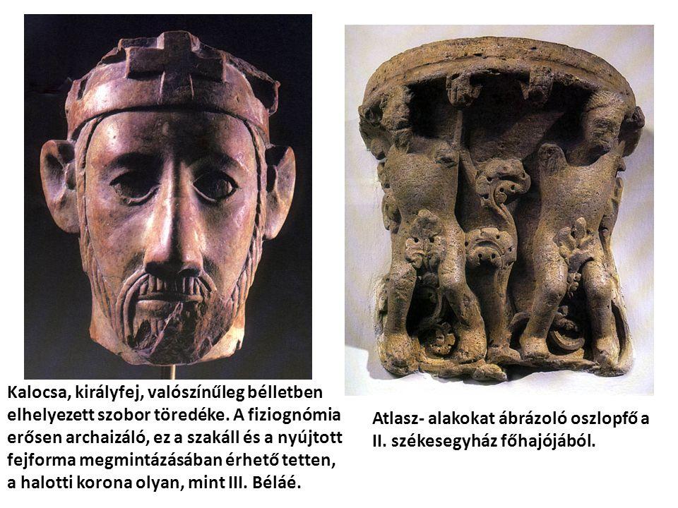Kalocsa, királyfej, valószínűleg bélletben elhelyezett szobor töredéke