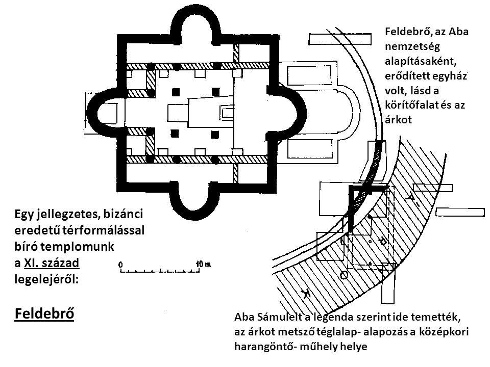 Feldebrő, az Aba nemzetség alapításaként, erődített egyház volt, lásd a körítőfalat és az árkot