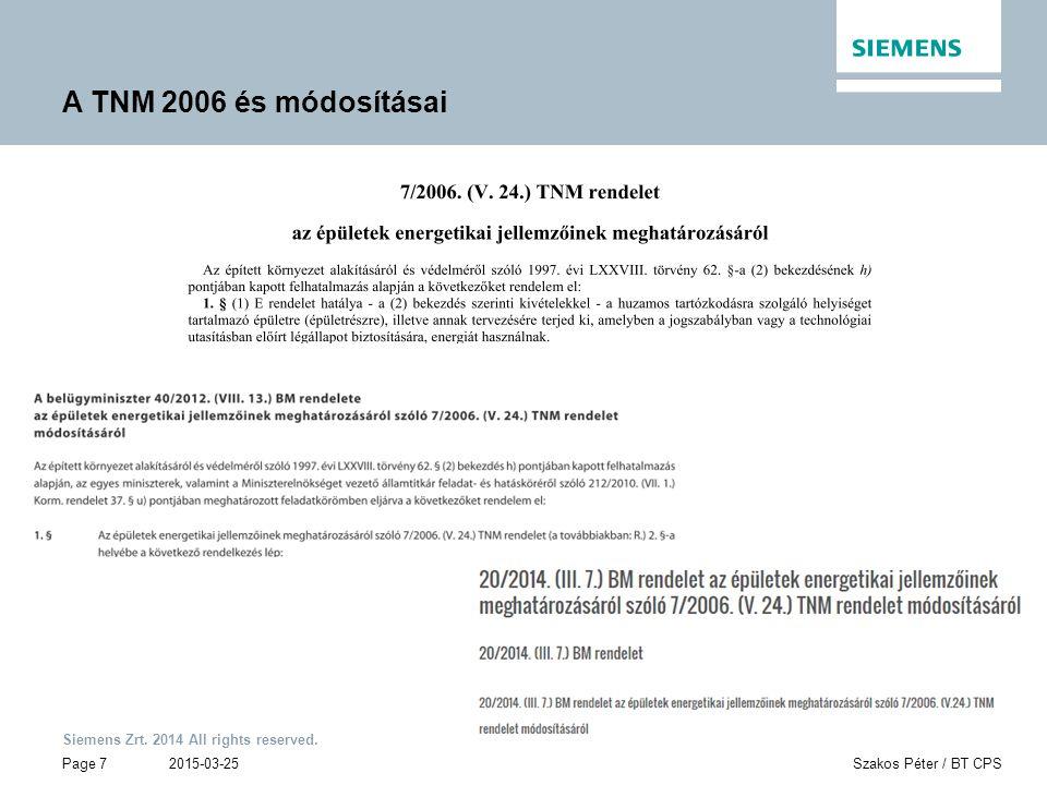 A TNM 2006 és módosításai 2015-03-25 Szakos Péter / BT CPS