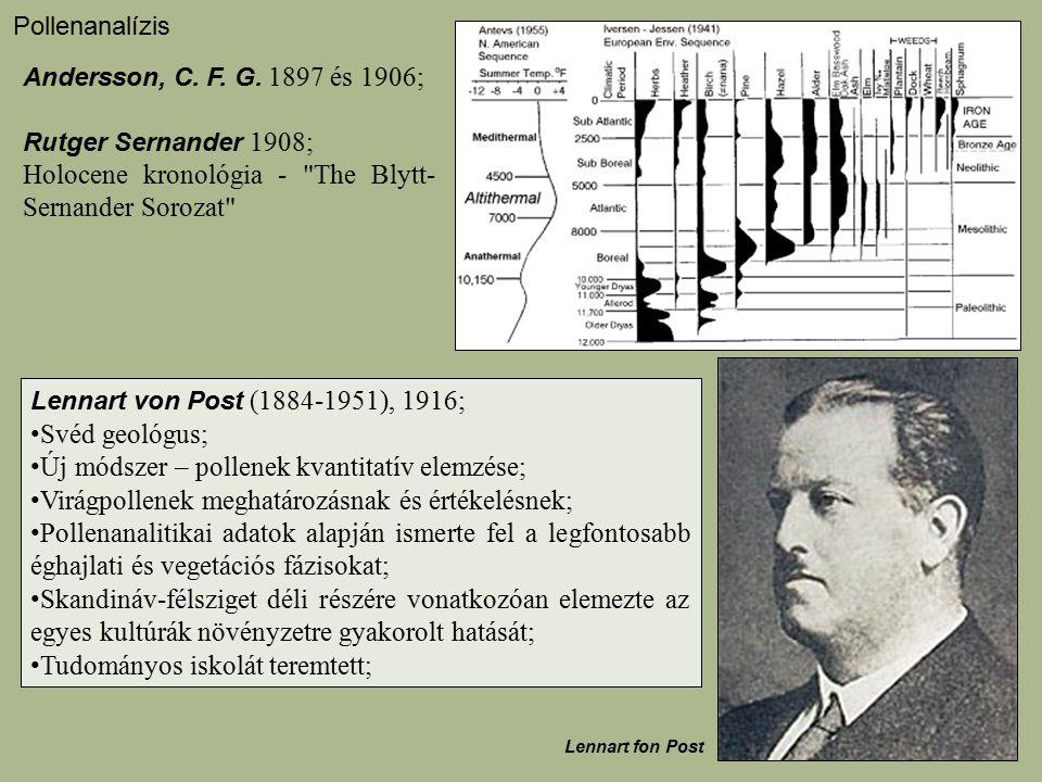 Holocene kronológia - The Blytt-Sernander Sorozat