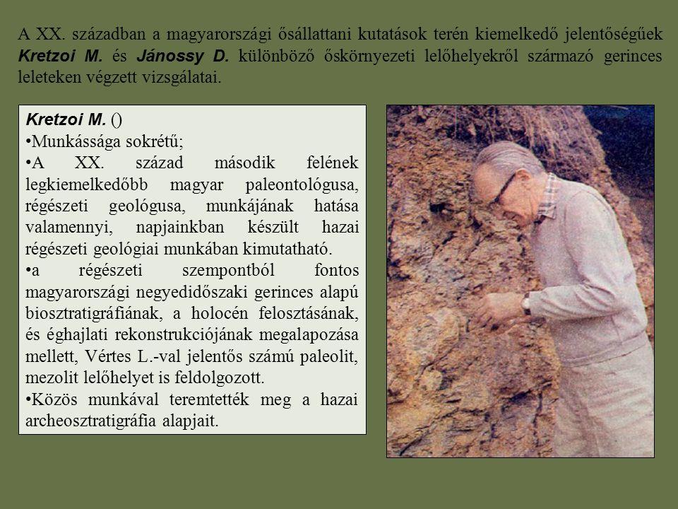 Közös munkával teremtették meg a hazai archeosztratigráfia alapjait.