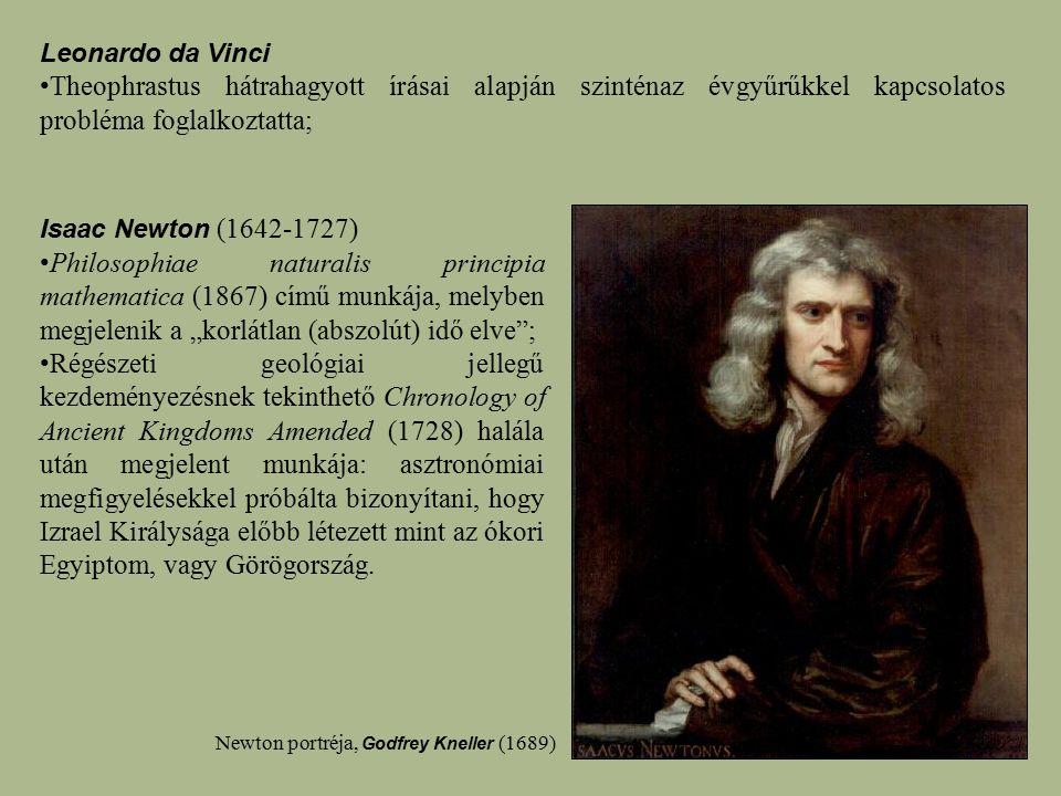 Leonardo da Vinci Theophrastus hátrahagyott írásai alapján szinténaz évgyűrűkkel kapcsolatos probléma foglalkoztatta;