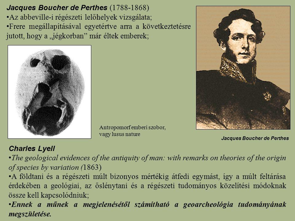 Az abbeville-i régészeti lelőhelyek vizsgálata;