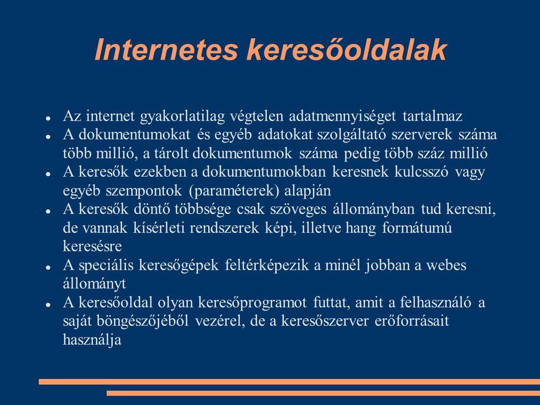 Internetes keresőoldalak