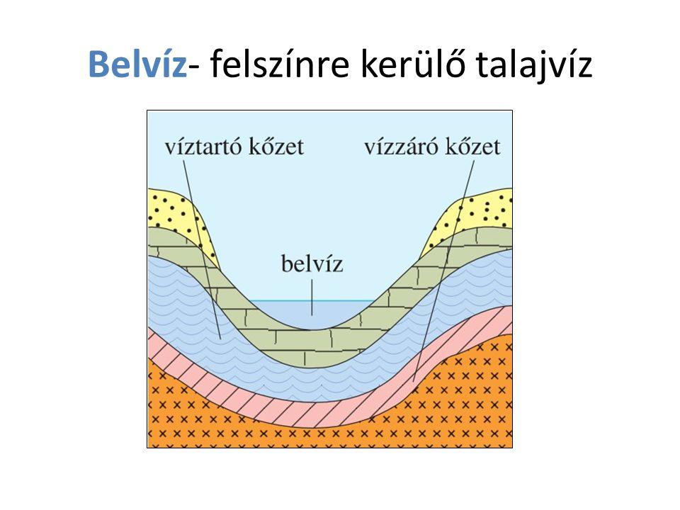 Belvíz- felszínre kerülő talajvíz