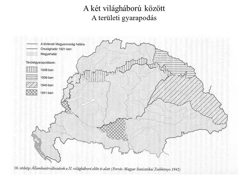 A két világháború között A területi gyarapodás
