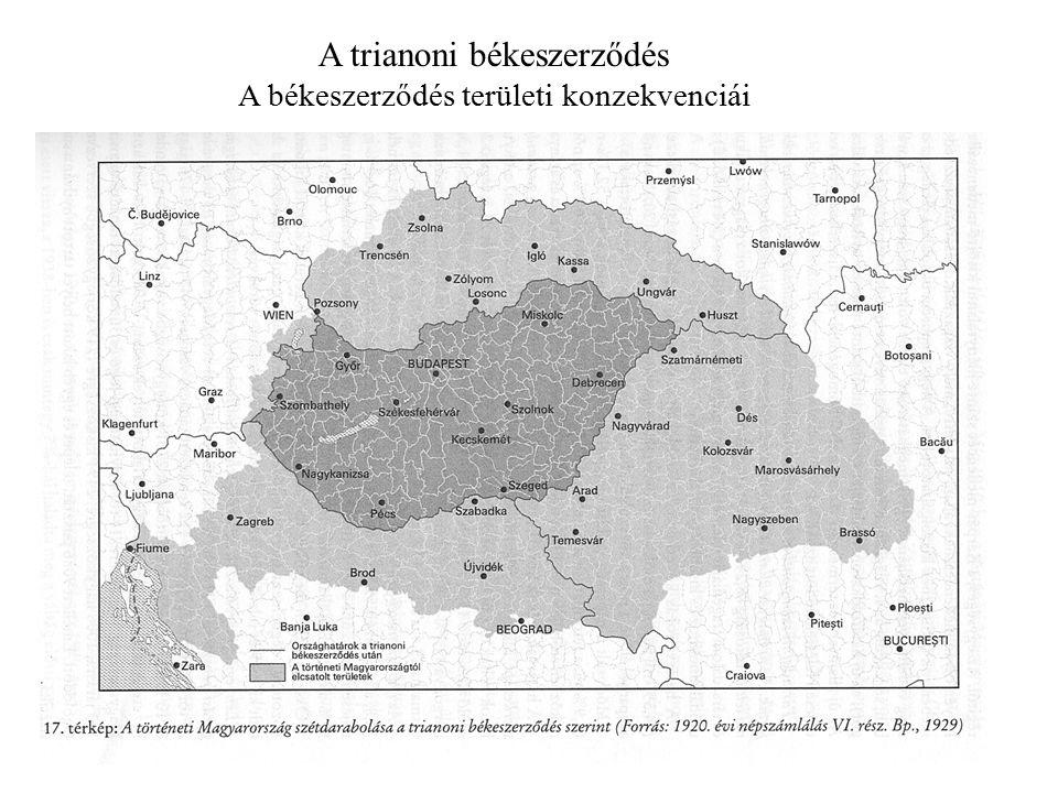 A trianoni békeszerződés A békeszerződés területi konzekvenciái