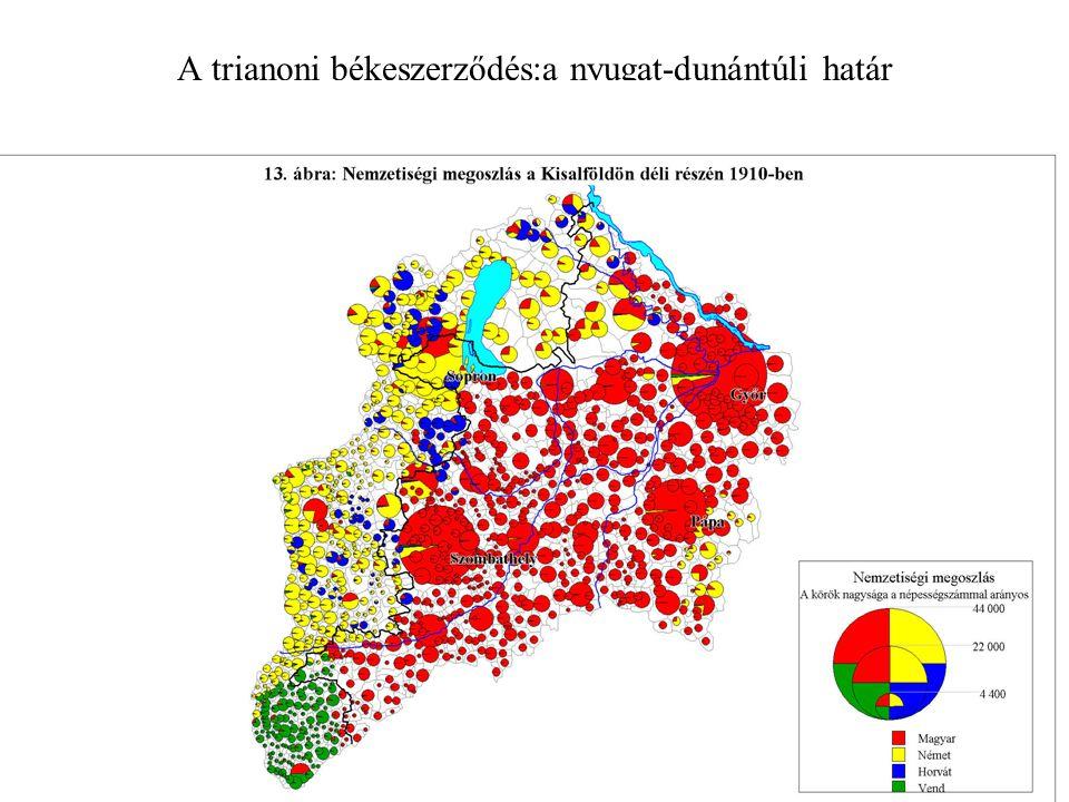 A trianoni békeszerződés:a nyugat-dunántúli határ