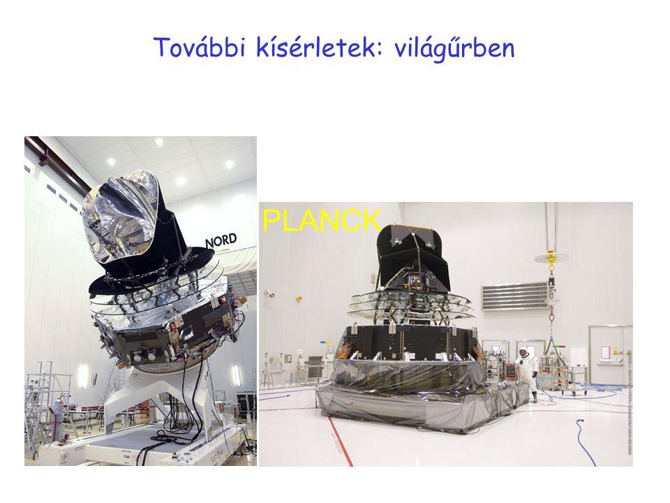 További kísérletek: világűrben