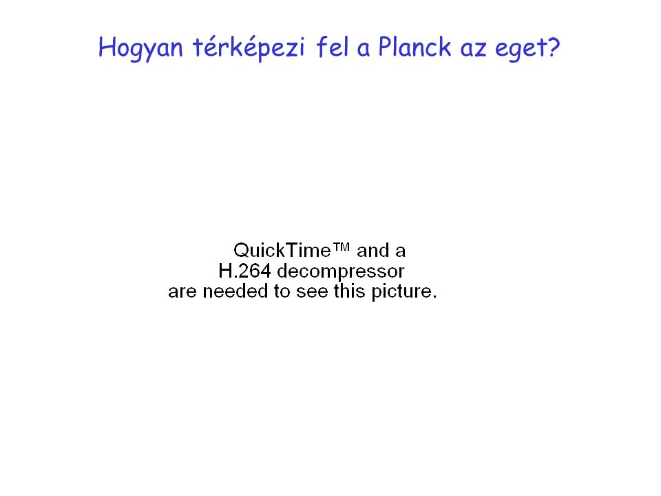 Hogyan térképezi fel a Planck az eget