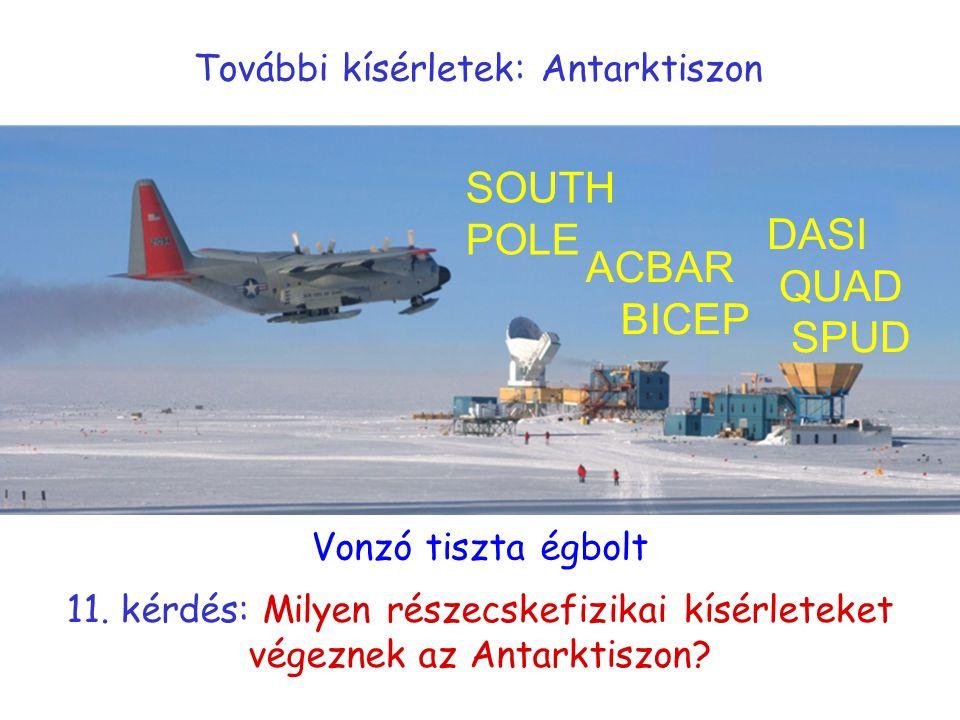 További kísérletek: Antarktiszon