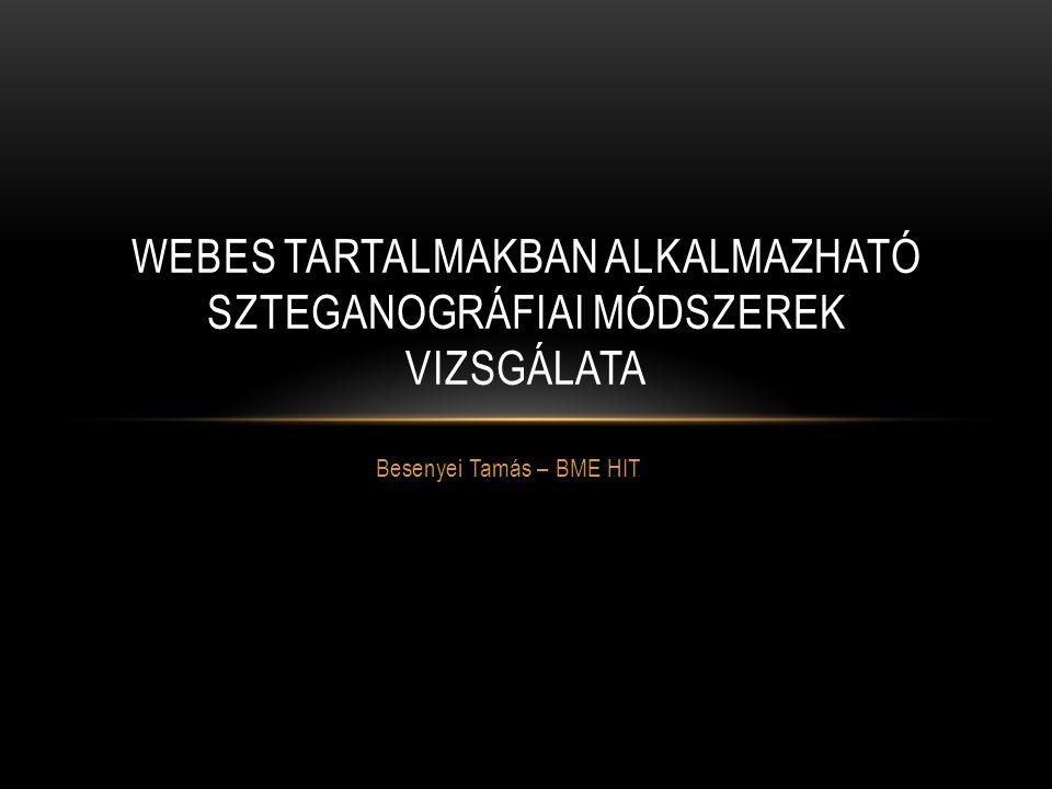 Webes tartalmakban alkalmazható szteganográfiai módszerek vizsgálata