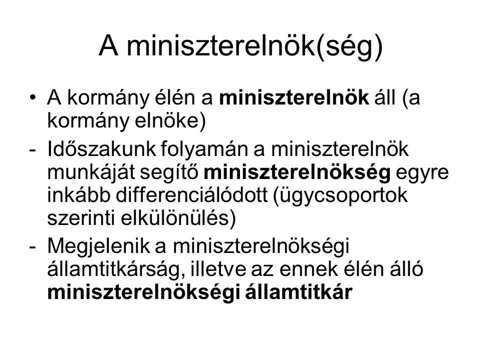 A miniszterelnök(ség)