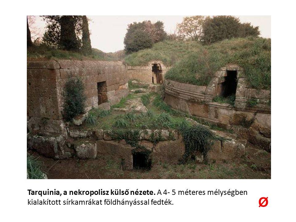 Tarquinia, a nekropolisz külső nézete