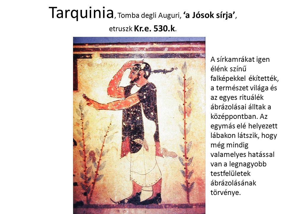 Tarquinia, Tomba degli Auguri, 'a Jósok sírja', etruszk Kr.e. 530.k.