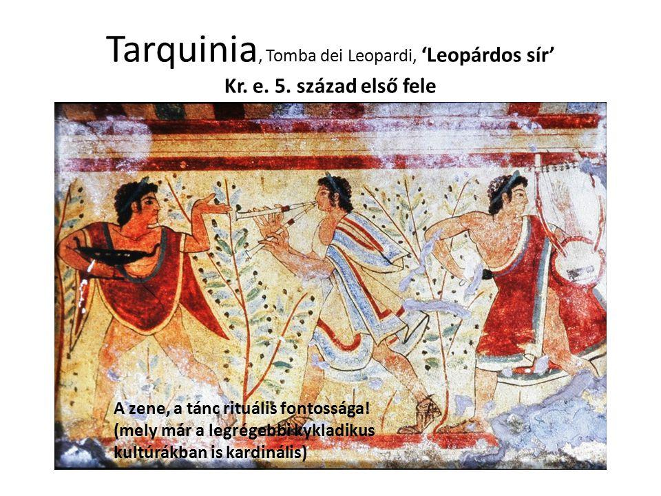 Tarquinia, Tomba dei Leopardi, 'Leopárdos sír' Kr. e. 5