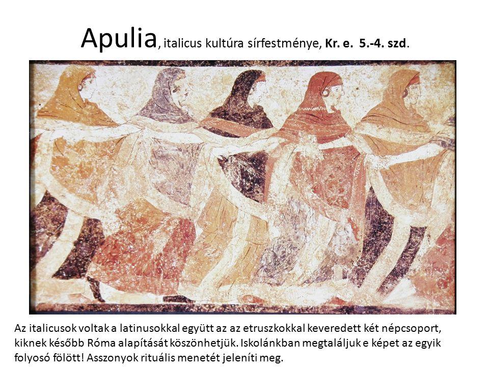 Apulia, italicus kultúra sírfestménye, Kr. e. 5.-4. szd.