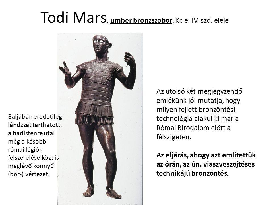 Todi Mars, umber bronzszobor, Kr. e. IV. szd. eleje