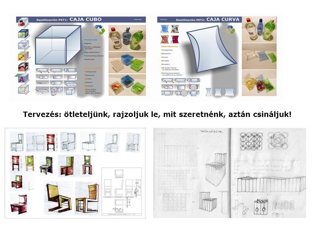 Tervezés: ötleteljünk, rajzoljuk le, mit szeretnénk, aztán csináljuk!