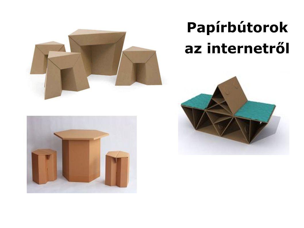 Papírbútorok az internetről