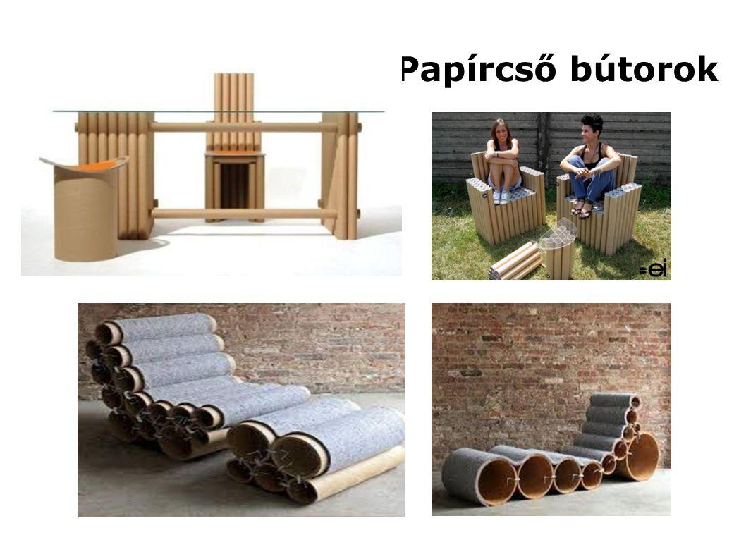 Papírcső bútorok