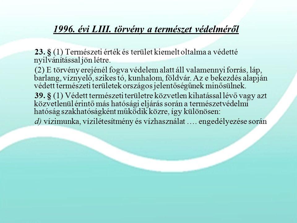 1996. évi LIII. törvény a természet védelméről