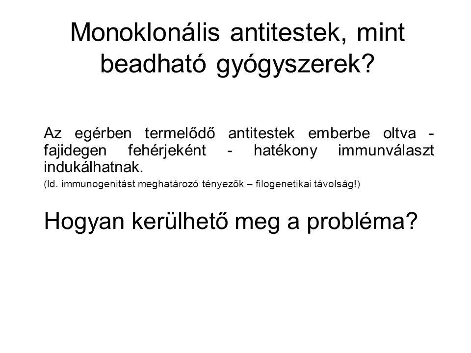 Monoklonális antitestek, mint beadható gyógyszerek