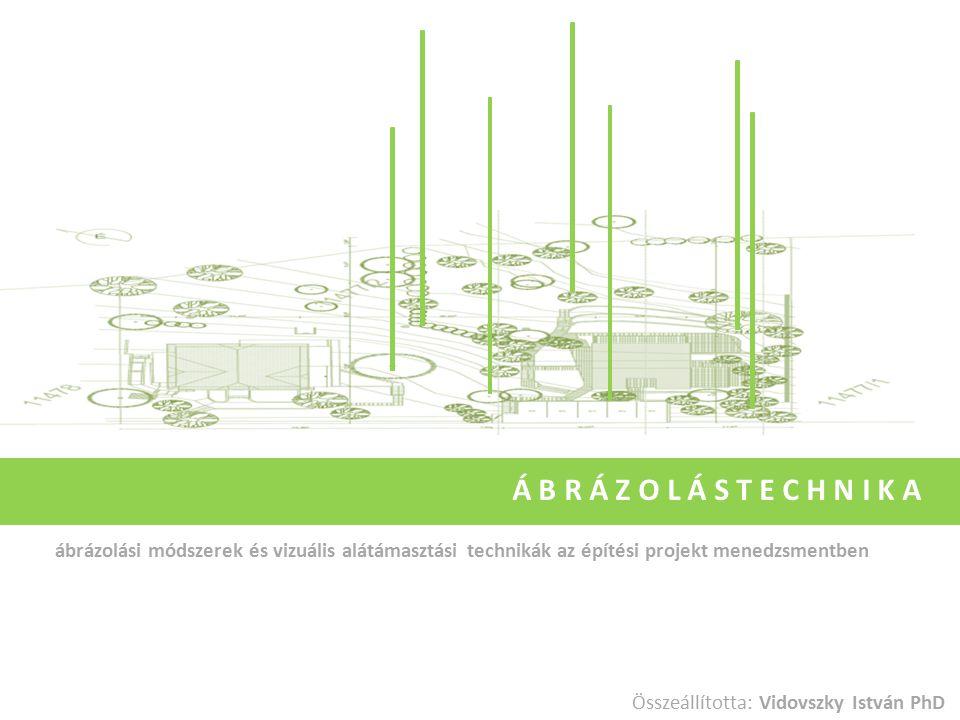 Á B R Á Z O L Á S T E C H N I K A ábrázolási módszerek és vizuális alátámasztási technikák az építési projekt menedzsmentben.