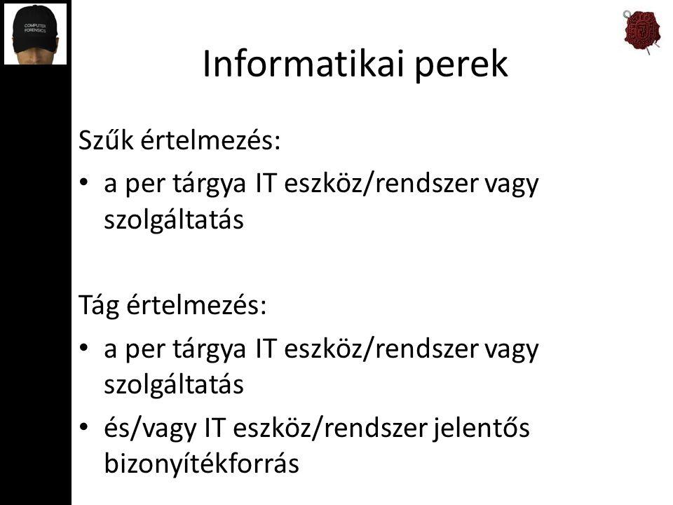 Informatikai perek Szűk értelmezés: