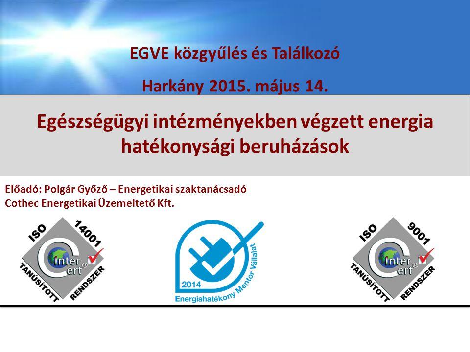 Egészségügyi intézményekben végzett energia hatékonysági beruházások