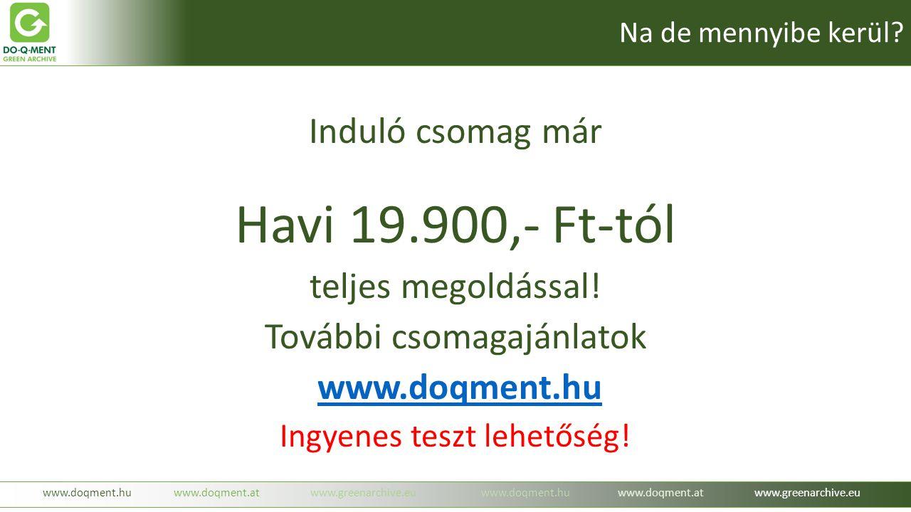 Havi 19.900,- Ft-tól Induló csomag már teljes megoldással!