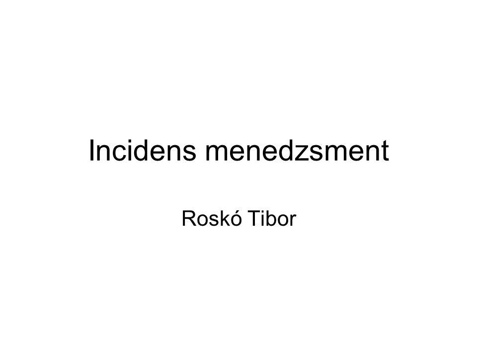 Incidens menedzsment Roskó Tibor