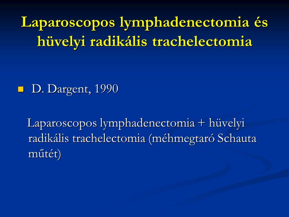 Laparoscopos lymphadenectomia és hüvelyi radikális trachelectomia
