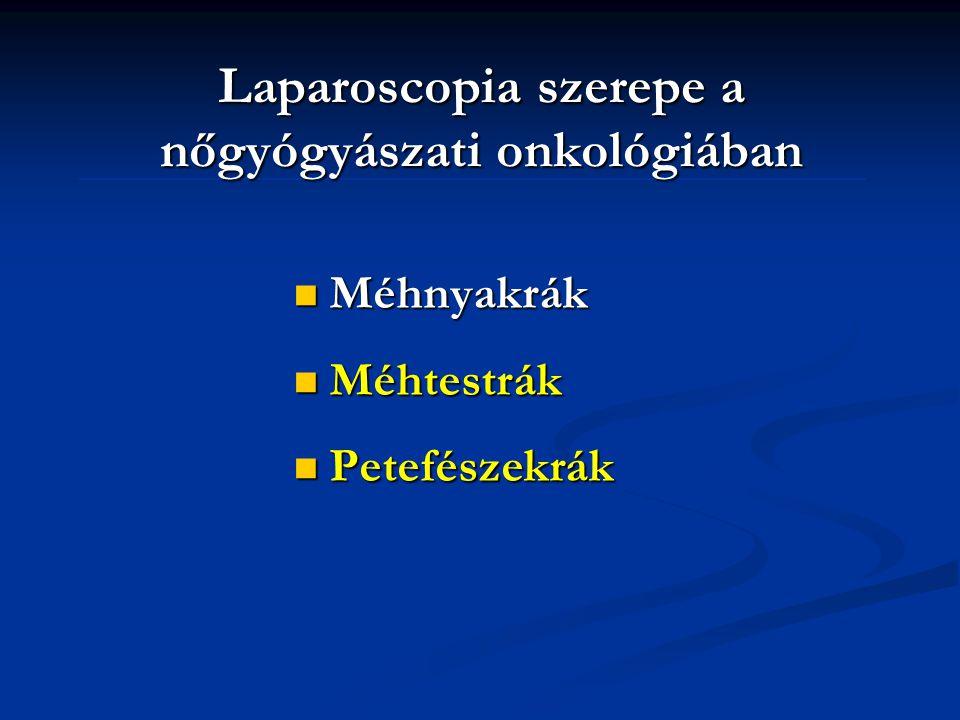 Laparoscopia szerepe a nőgyógyászati onkológiában
