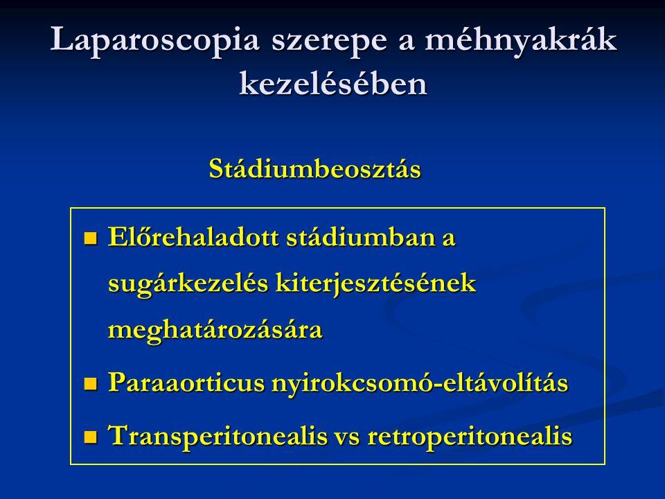 Laparoscopia szerepe a méhnyakrák kezelésében