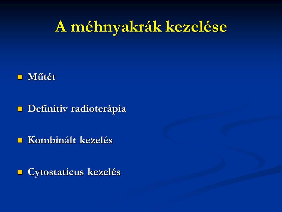 A méhnyakrák kezelése Műtét Definitiv radioterápia Kombinált kezelés