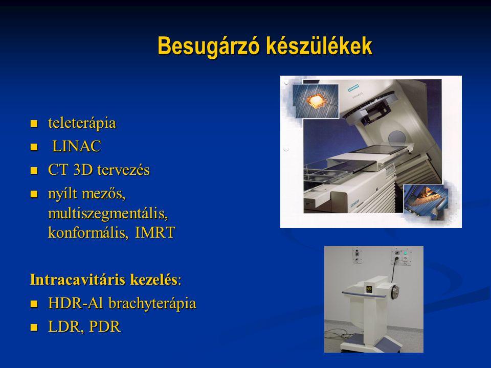 Besugárzó készülékek teleterápia LINAC CT 3D tervezés