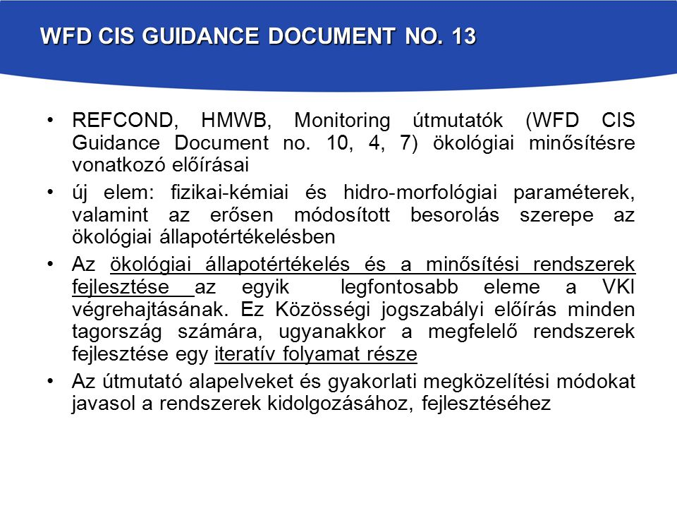 WFD CIS Guidance Document No. 13