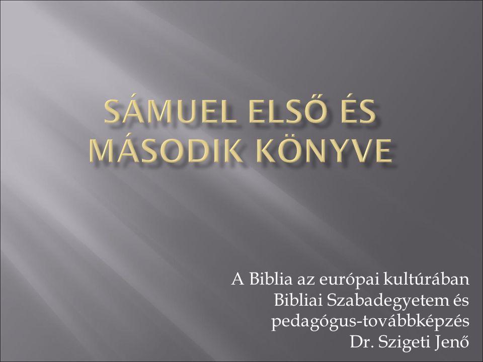 Sámuel első és második könyve